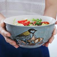 8寸大号汤碗家用大碗陶瓷碗水果沙拉碗个性西餐汤盆面碗餐具