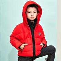 【一口价 736元】【叠券满199-20】轻薄羽绒服男拉夏贝尔冬季新款儿童短款连帽男童小童保暖外套