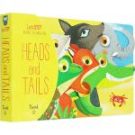Heads and Tails 英文原版绘本0 3岁 头和尾巴 儿童纸板造型书 儿童认知识物绘本 Madeleine