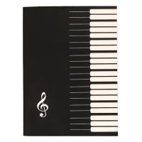 儿童自学空白乐谱本夹通用宽距五线谱本电子钢琴小提琴萨克斯