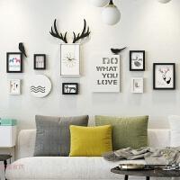 创意墙上相框室内照片墙装饰品 简约现代一面墙 个性相框挂墙组合