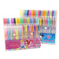 包邮 卡通创意闪光笔 0.8mm彩色闪亮中性笔水笔12色套装 DIY闪光涂鸦笔