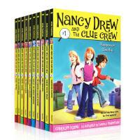 【全店300减100】英文原版 Nancy Drew 侦探故事南茜朱尔儿童初级章节书1-10套装