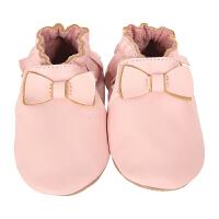 保税区发货/美国直邮 Robeez Maggie Moccasin 女童高档软底学步鞋蝴蝶结软帮 粉色 海外购