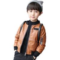 童装男童秋冬皮衣外套新款儿童冬装加绒厚春秋休闲夹克