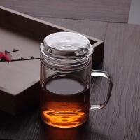 [当当自营]北斗正明耐热玻璃杯男女士双层隔热水杯子便携带盖过滤办公杯加厚底泡茶杯