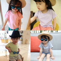 女童t恤短袖 夏装新款童装中小童舒适彩棉半袖上衣 儿童T恤女