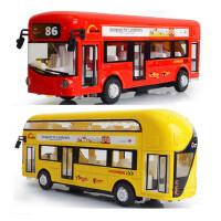 合金公交车玩具模型汽车玩具公共汽车模儿童仿真玩具