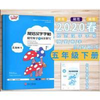 新版2020春笔下生辉规范汉字字帖随堂练字与同步默写五年级下册通用版部编人教版李长龙
