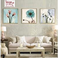 客厅装饰画三联有框画沙发背景墙挂画