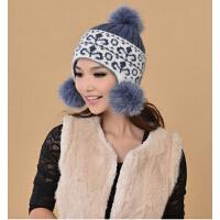 秋冬女士韩版潮可爱护耳帽子时尚毛线帽 冬季帽子女针织帽