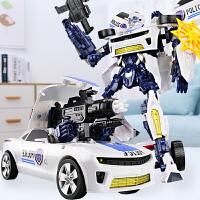 手办变形玩具金刚大黄蜂警车汽车机器人模型儿童男孩