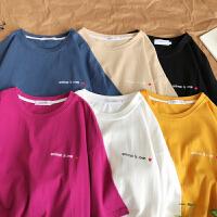 韩版夏季新款情侣短袖T恤男生宽松圆领半袖上衣学生bf风潮流男装