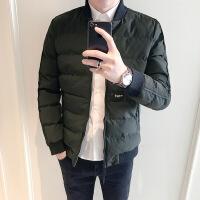 冬季羽绒服男加厚潮流棒球领男短款青年韩版修身男士棉衣外套
