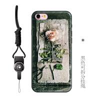 iphone6plus手机壳女款苹果6保护套挂绳包边8防摔6s个性软壳7