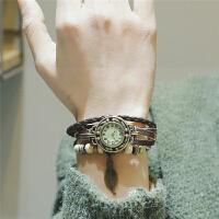 古风手表中国风学生小清新文艺韩版手链女缠绕复古编织带