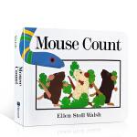 【顺丰速运】英文原版 Mouse Count 老鼠数数 Ellen Stoll Walsh作者 吴敏兰123绘本第49
