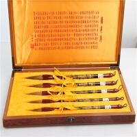 文房四宝套装笔墨纸砚学生书法腾龙毛笔五只装毛笔精美礼盒包装