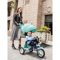 儿童三轮车折叠婴儿手推车宝宝自行车脚踏车1-6岁
