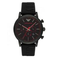 Emporio Armani男士黑色手表阿玛尼大表盘皮带运动46Mm毫米AR11024/AR11022/AR11023