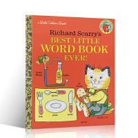 【全店300减100】英文原版书 Richard Scarry's Best Little Word Book Ever