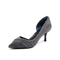 迪芙斯(DFUSE)女鞋 2019年春季专柜同款织物侧空时尚单鞋DF91114018