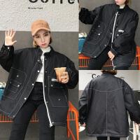 冬季加厚外套女韩版中长款宽松显瘦棉衣工装大码胖mm200斤
