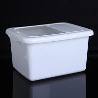 带盖10KG米桶厨房防虫储米箱10KG密封防尘米面大米收纳箱面粉桶 米缸大米面粉防虫储米箱-白色