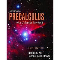英文原版Essentials Of Precalculus With Calculus Previews初级微积分精要
