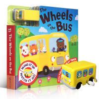 【全店300减100】英文原版进口童书The Wheels on the Bus 公交车 儿童轨道车玩具纸板书 0-3-