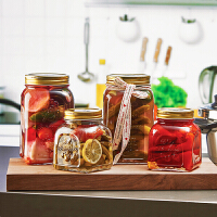 密封罐玻璃果酱瓶小号 家用泡柠檬蜂蜜食品沙拉罐子带盖