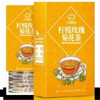 柠檬片玫瑰菊花茶组合 泡茶干片胎菊