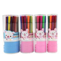爱好12 18 24 36色水彩笔儿童绘画笔筒装水彩笔 学生纸盒水溶性彩铅 外壳颜色随机发货