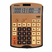 晨光计算器商务计算机 办公财务适用大按键学生迷你考试便携式计算器 双电源大按键茶色 ADG98703