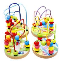 木丸子绕珠串珠积木男女孩宝宝早教益智力幼儿童玩具1-2岁-3周岁