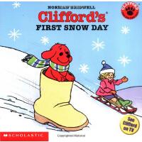 英文原版Clifford'S First Snow Day 大红狗的*个雪天 儿童故事绘本