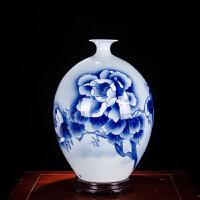 家居客厅装饰品摆件陶瓷器青花瓷手绘葫芦花瓶