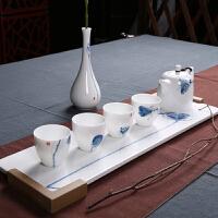 青花瓷功夫茶具手绘套装创意个性陶瓷茶艺办公室简约瓷器喝茶家用