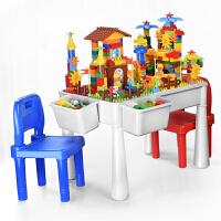 多功能积木桌子男孩子女孩3-6周岁7儿童8智力9拼装玩具