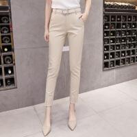 2018春新款休闲西装裤修身显瘦小脚裤铅笔裤女士OL气质职业工作裤