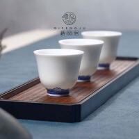陶瓷仿古青花茶杯茶盏斗笠杯闻香杯 功夫茶具