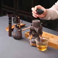 创意紫砂小猪茶漏茶滤过滤网茶具配件泡茶器六君子公道杯茶漏套装