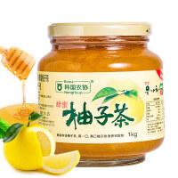 包邮 韩国进口韩国农协蜂蜜柚子茶1000g 蜂蜜柠檬茶进口蜜炼柚子茶果茶