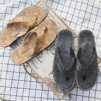 夏季韩版潮流百搭人字拖男士拖鞋防滑个性时尚休闲潮沙滩凉拖大码
