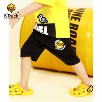 【3折价:77.7】B.duck小黄鸭童装男童短裤夏季儿童纯棉运动中裤2020新款小孩五分裤BF2152901