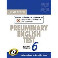 【预订】Cambridge Preliminary English Test 6 Without