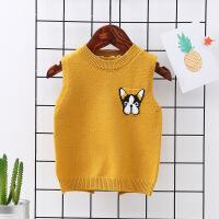 宝宝小童针织背心男儿童马甲春秋女童毛衣0-1婴儿2外穿3岁打底衫