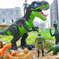 恐龙玩具电动下蛋仿真动物遥控霸王龙儿童套装男孩