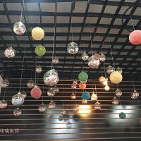 20180621212147326圣诞节装饰品塑料透明泡沫球挂饰圣诞树挂件婚庆商场橱窗吊顶装饰