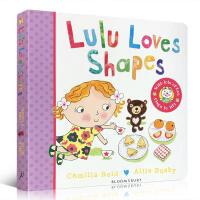 英文原版Lulu Loves Shapes 露露爱形状 露露系列 纸板翻翻书 幼儿启蒙 Lulus系列启蒙认知书